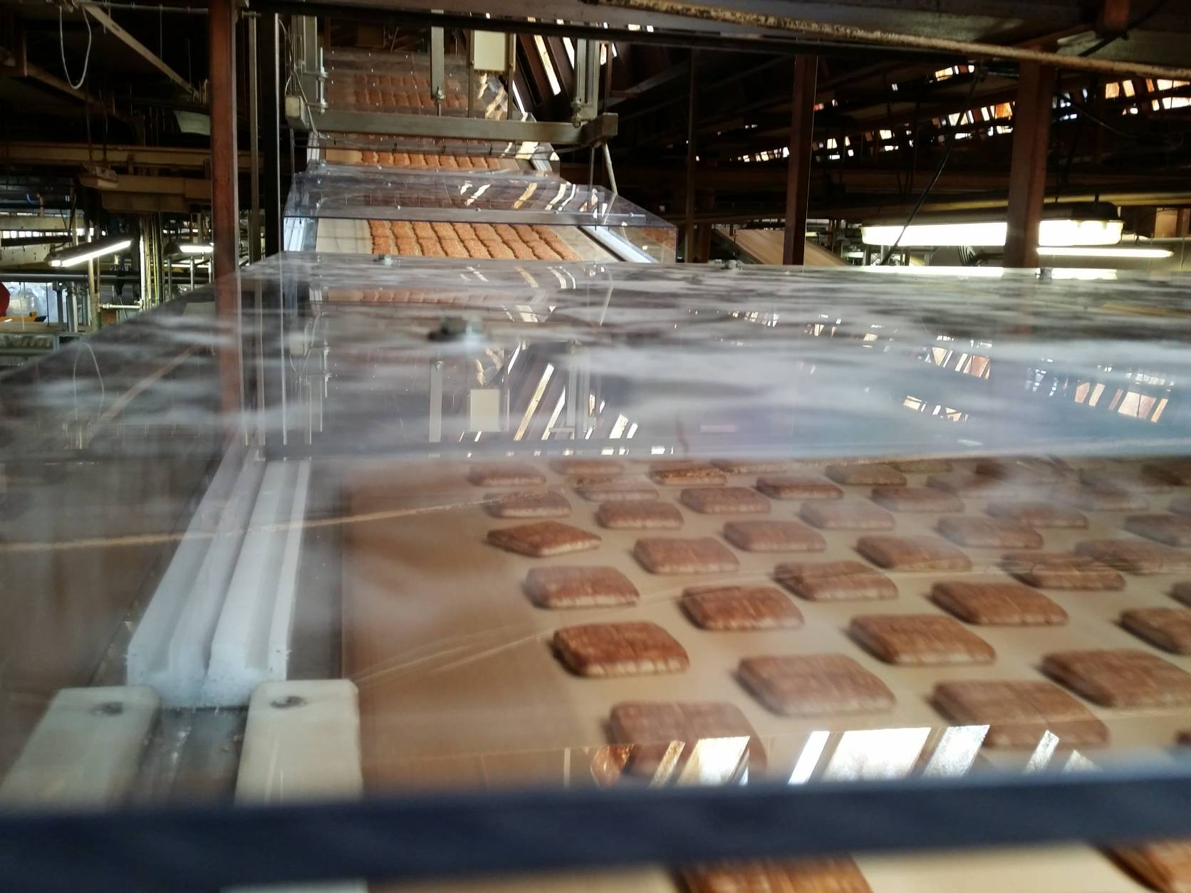 Narviplastx Telescopic Roofs in PC Transparant at Mondelez Factory Belgium (4)